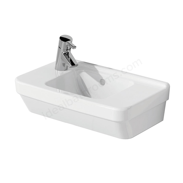 Vitra S50 Compact Washbasin; 1 Tap Hole; 500mm Wide; Left Handed; White