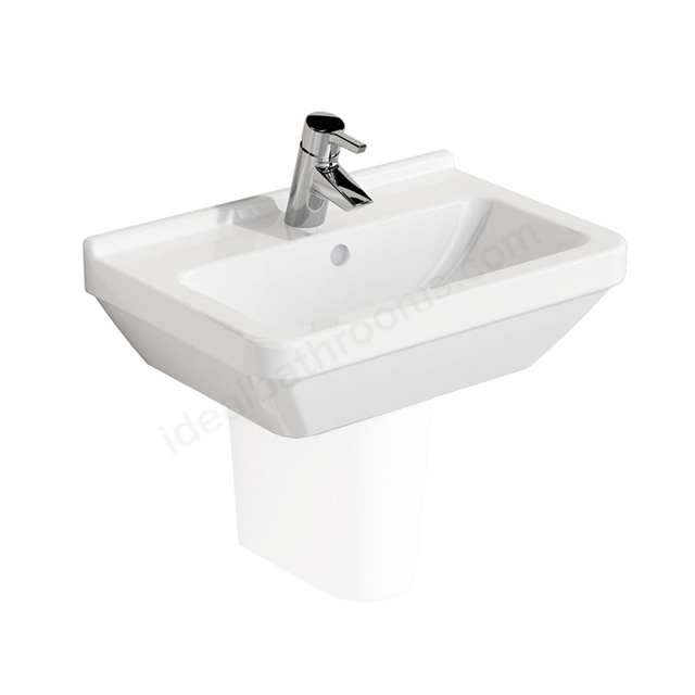 Vitra S50 Compact Washbasin; 1 Tap Hole; 550mm Wide; White