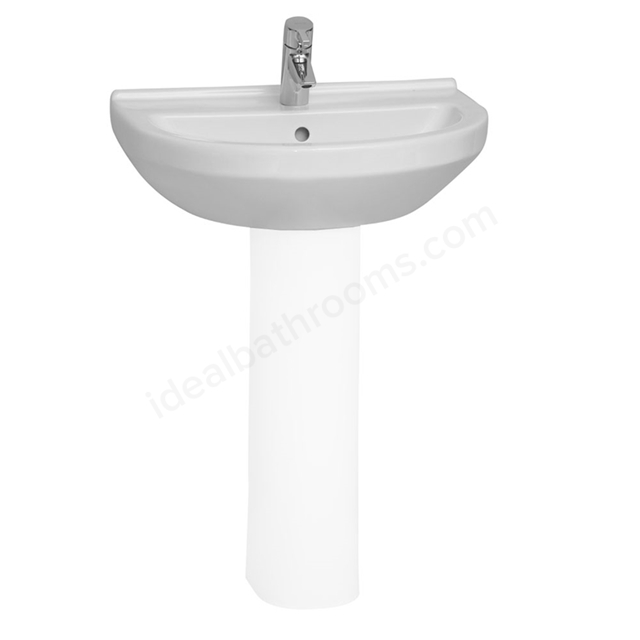 Vitra S50 Round Washbasin; 1 Tap Hole; 650mm Wide; White