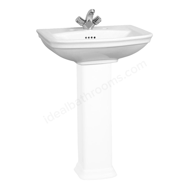 Vitra SERENADA Washbasin; 1 Tap Hole; 600mm Wide; White