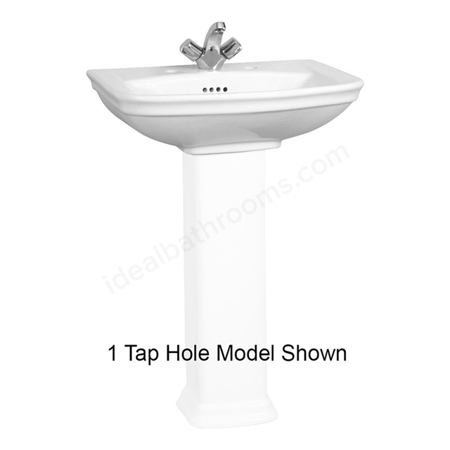 Vitra SERENADA Washbasin; 2 Tap Hole; 600mm Wide; White