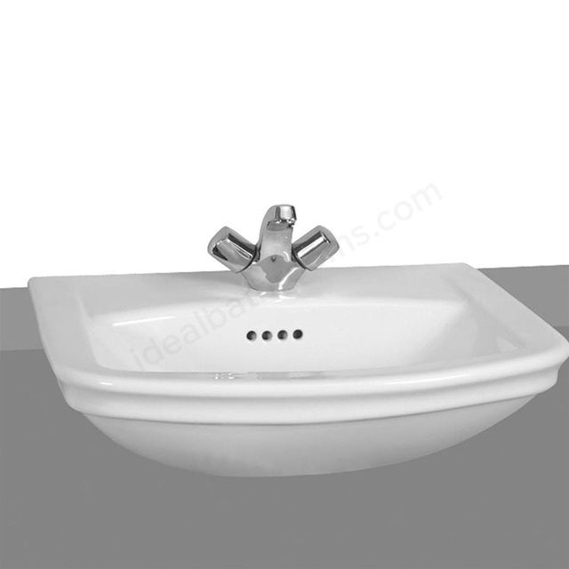 Vitra SERENADA Semi Countertop Basin; 1 Tap Hole; 560mm Wide; White