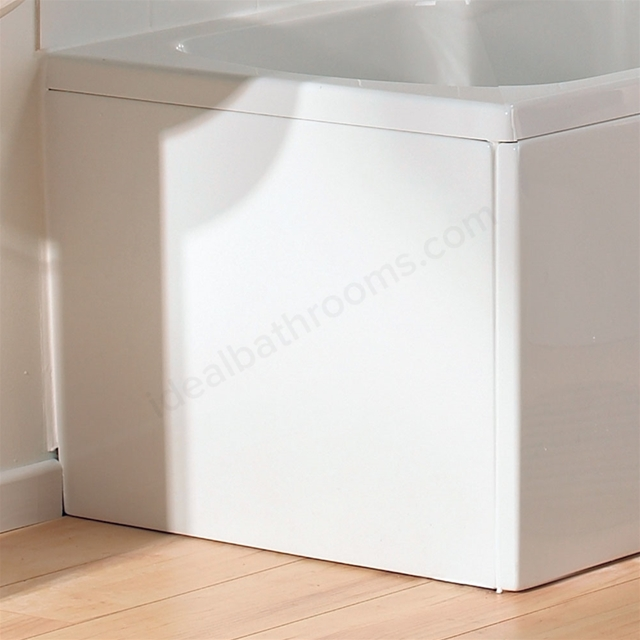 Vitra OPTIMA Shower Bath End Bath Panel; 700mm Long; White