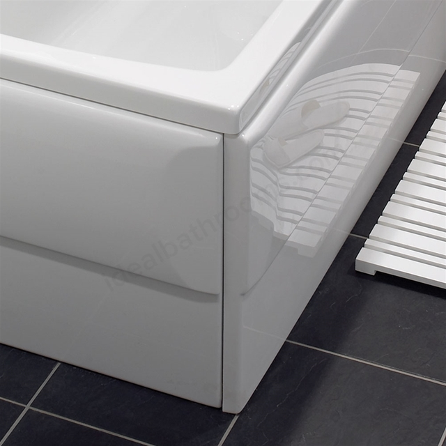 Vitra ECONOMY Bath Front Bath Panel; 1600mm Long; White