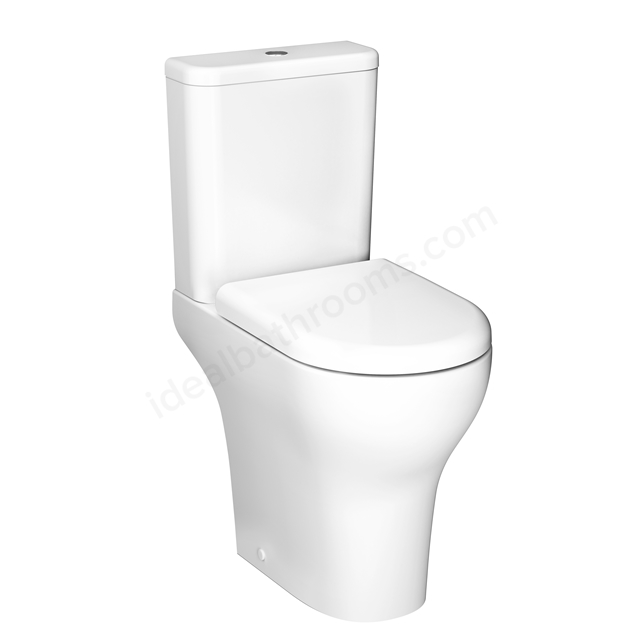 VitrA Zentrum Close-Coupled Pan; Rim-Ex; Open-Back; Comfort Height; White