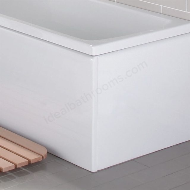 Vitra Flat Bath Front Bath Panel 1600mm Long White