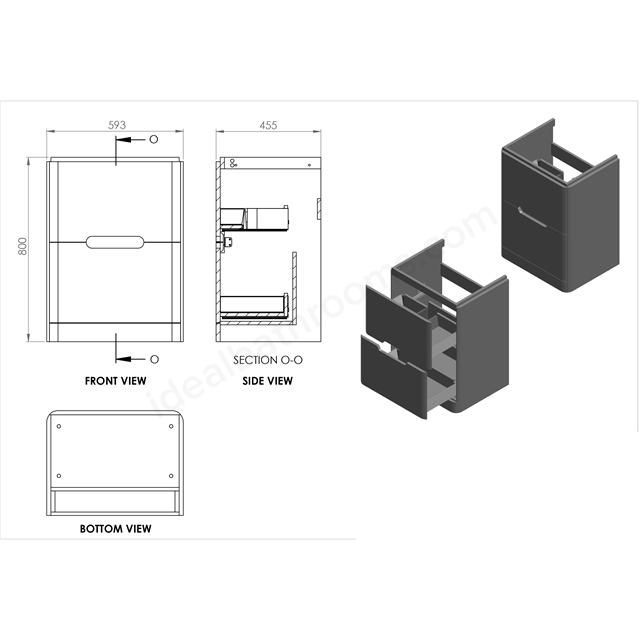 Essential Colorado 600 FS Unit & Basin Matt White | Ideal