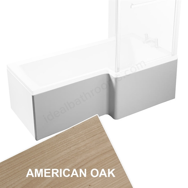 Ideal Standard CONCEPT Square Shower Bath Front Bath Panel, Right Handed, 1500mm, American Oak