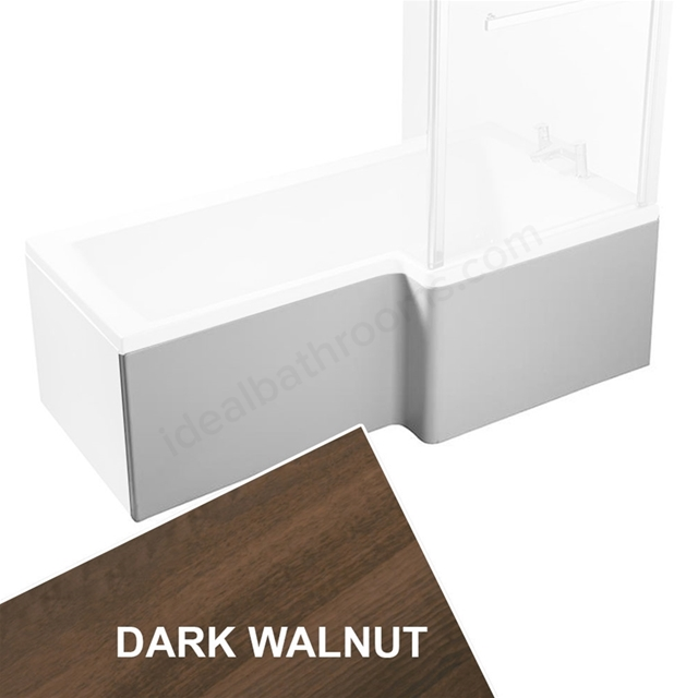 Ideal Standard CONCEPT Square Shower Bath Front Bath Panel, Right Handed, 1700mm, Dark Walnut