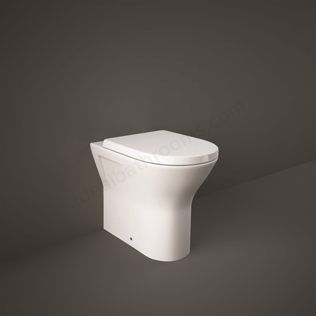 RAK Ceramics Resort Extended Height 45cm Back to Wall Pan with Wrap Over Soft Close Seat (Urea)