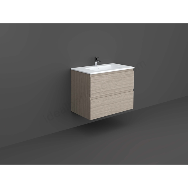 RAK Ceramics Wall Hung Vanity 80cm (Grey Elm)