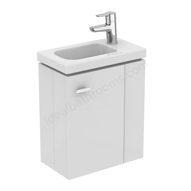 Ideal Standard Concept Space 450 X 250Mm Wall Hung Guest Basin Unit With L Shaped Door - Right Hand - White