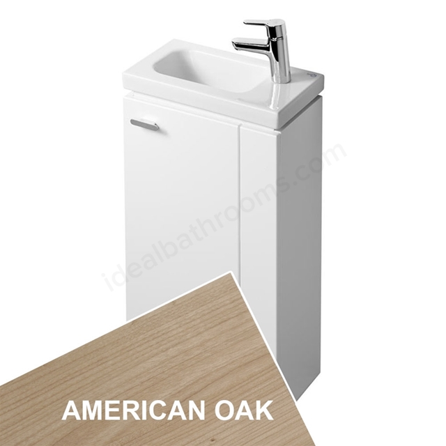 Ideal Standard CONCEPT SPACE; Floor Standing Basin Unit; 450x250mm; Right Handed 1 Door; American Oak