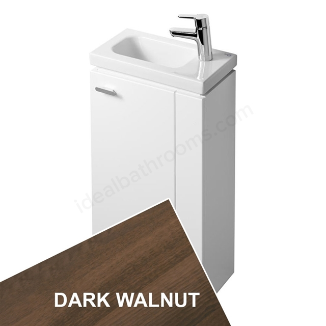 Ideal Standard CONCEPT SPACE; Floor Standing Basin Unit; 450x250mm; Right Handed 1 Door; Dark Walnut