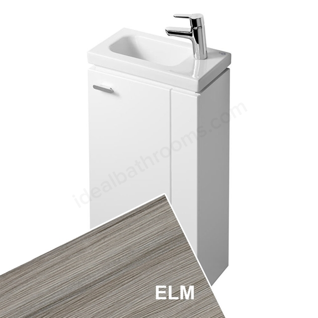 Ideal Standard CONCEPT SPACE; Floor Standing Basin Unit; 450x250mm; Right Handed 1 Door; Elm