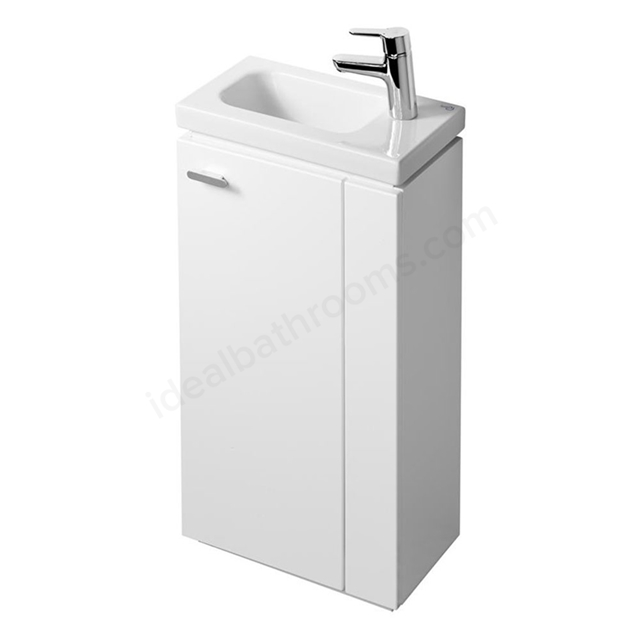 Ideal Standard Concept Space 450 X 250Mm Floor Standing Guest Basin Unit With L Shaped Door - Right Hand - White
