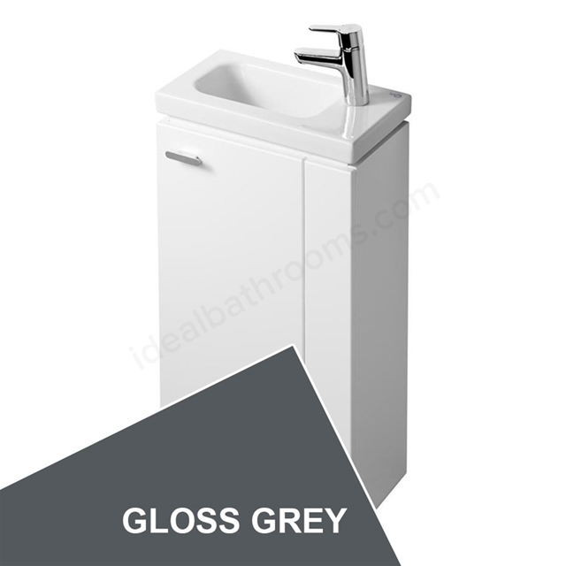 Ideal Standard Concept Space 450 X 250Mm Floor Standing Guest Basin Unit With L Shaped Door