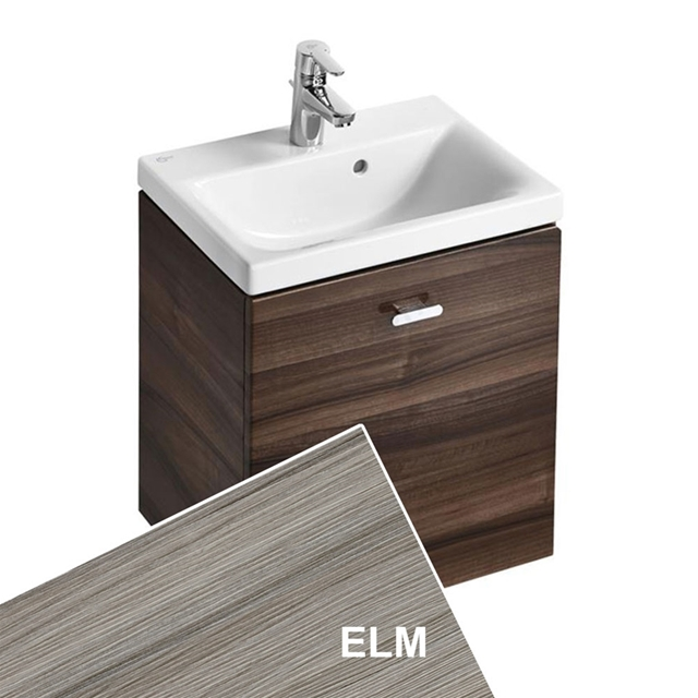 Ideal Standard CONCEPT SPACE; Wall Hung Basin Unit; 500x380mm; 1 Drawer; Elm