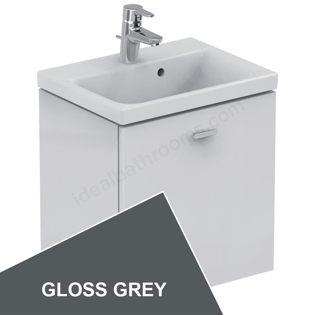 Ideal Standard Concept Space 500 X 380Mm Wall Hung Basin Unit With One Drawer - Grey