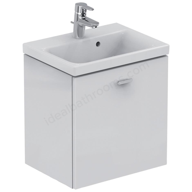 Ideal Standard CONCEPT SPACE; Wall Hung Basin Unit; 500x380mm; 1 Drawer; Gloss White