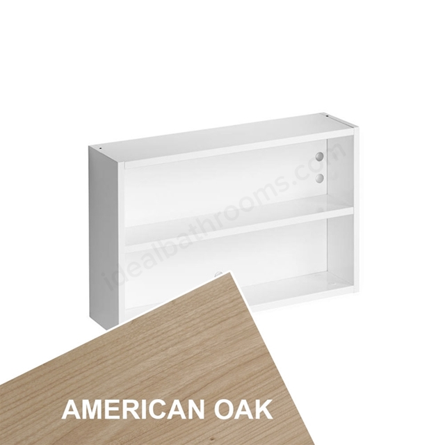Ideal Standard Concept Space 500Mm Fill In Shelf Unit - American Oak