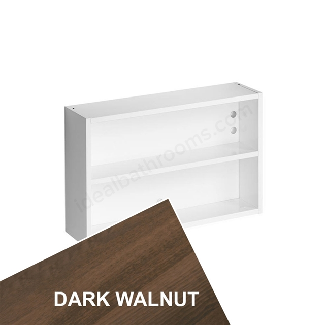 Ideal Standard Concept Space 500Mm Fill In Shelf Unit - Dark Walnut