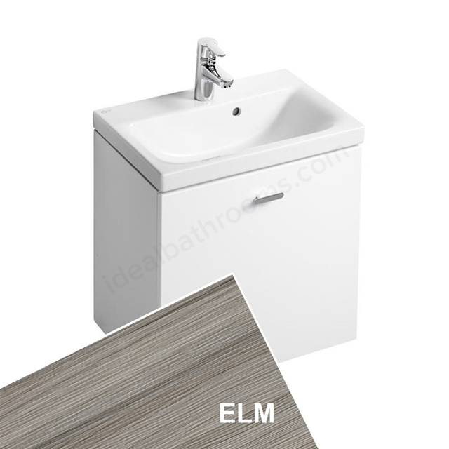 Ideal Standard CONCEPT SPACE; Wall Hung Basin Unit; 550x380mm; 1 Drawer; Elm