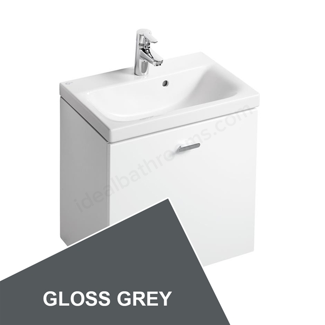 Ideal Standard Concept Space 550 X 380Mm Wall Hung Basin Unit With One Drawer - Grey