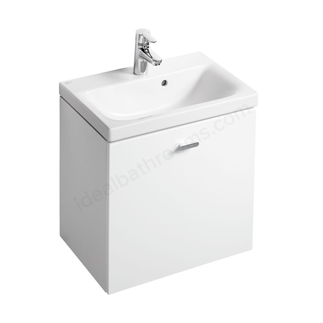 Ideal Standard Concept Space 550 X 380Mm Wall Hung Basin Unit With One Drawer - White