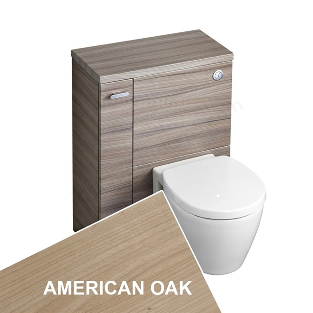 Ideal Standard CONCEPT SPACE Wc Unit with Left Handed Storage Cupboard; 600x300mm; American Oak