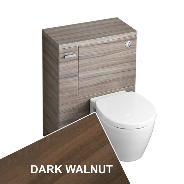 Ideal Standard CONCEPT SPACE Wc Unit with Left Handed Storage Cupboard; 600x300mm; Dark Walnut