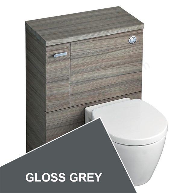 Ideal Standard Concept Space 600 X 300Mm Wc Unit With Left Hand Storage Cupboard - Grey