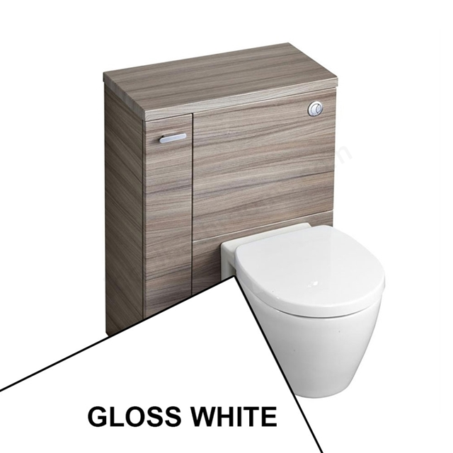 Ideal Standard CONCEPT SPACE Wc Unit with Left Handed Storage Cupboard; 600x300mm; Gloss White