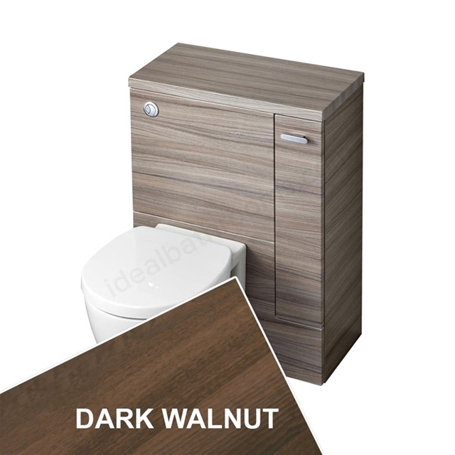 Ideal Standard CONCEPT SPACE Wc Unit with Right Handed Storage Cupboard; 600x300mm; Dark Walnut