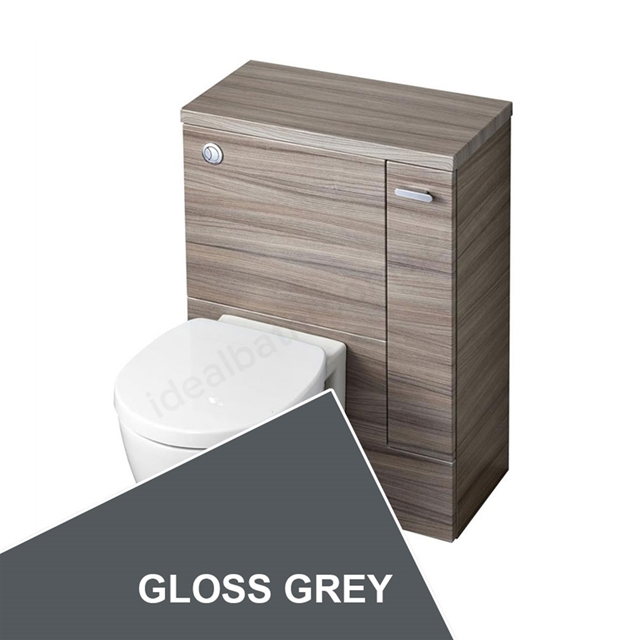 Ideal Standard CONCEPT SPACE Wc Unit with Right Handed Storage Cupboard; 600x300mm; Gloss Grey