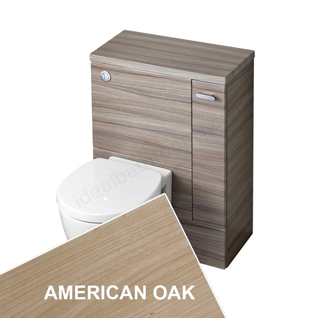 Ideal Standard Concept Space 600 X 300Mm Wc Unit With Right Hand Storage Cupboard - American Oak