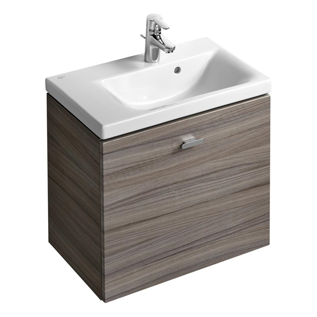 Ideal Standard Concept Space 600 X 380Mm Wall Hung Basin Unit With One Drawer - Left Hand - Elm