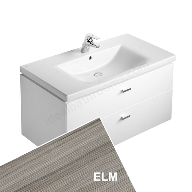 Ideal Standard CONCEPT Wall Hung Vanity Unit; 700x450mm; 2 Drawers; Elm