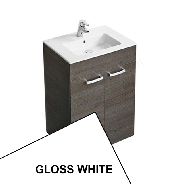 Ideal Standard TEMPO Floor Standing Vanity Unit + Basin; 600mm; Gloss White