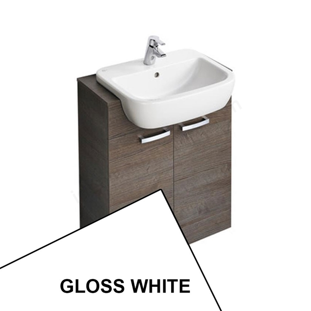 Ideal Standard TEMPO Semi Countertop Unit 650mm + Basin 550mm; Gloss White
