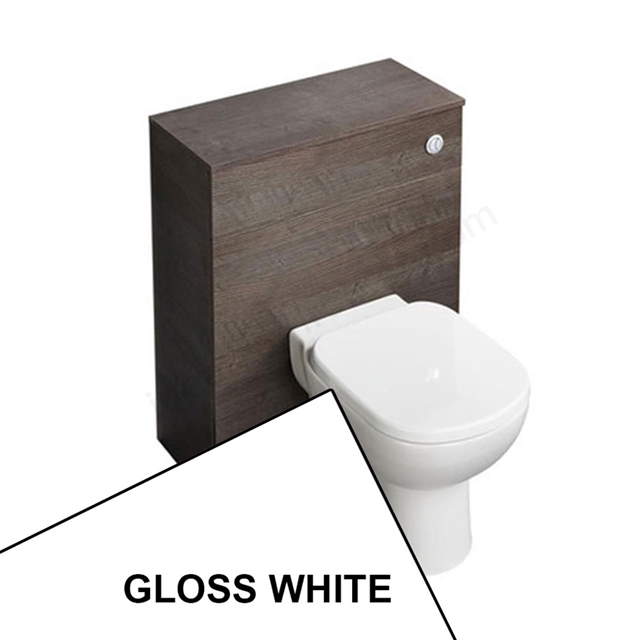 Ideal Standard TEMPO Wc Unit Pack; Includes BTW Pan + Seat + Cistern + Worktop; 650x300mm; Gloss White