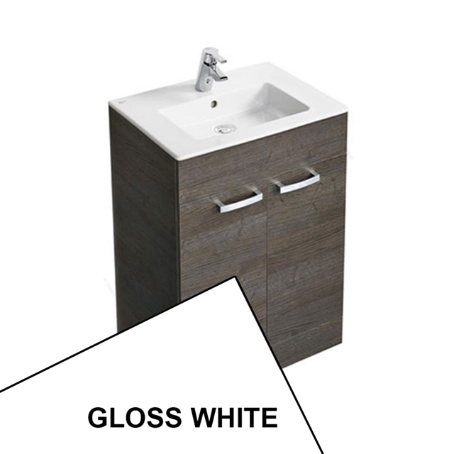 Ideal Standard TEMPO Floor Standing Vanity Unit; 600x440mm; Gloss White