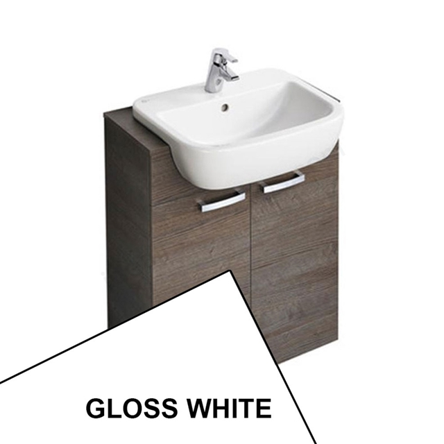 Ideal Standard TEMPO Semi Countertop Basin Unit; 650x300mm; Gloss White