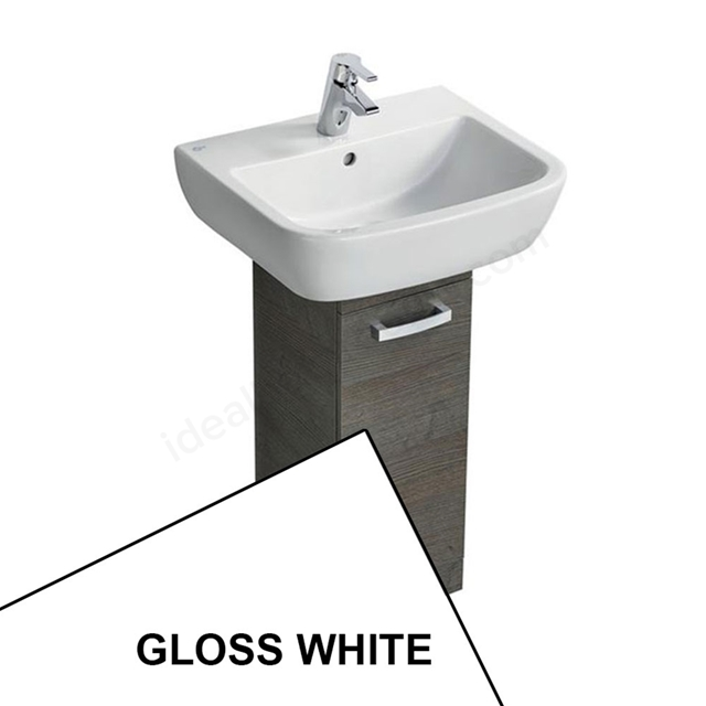 Ideal Standard TEMPO Pedestal Basin Unit; 400x300mm; 1 Door; Gloss White