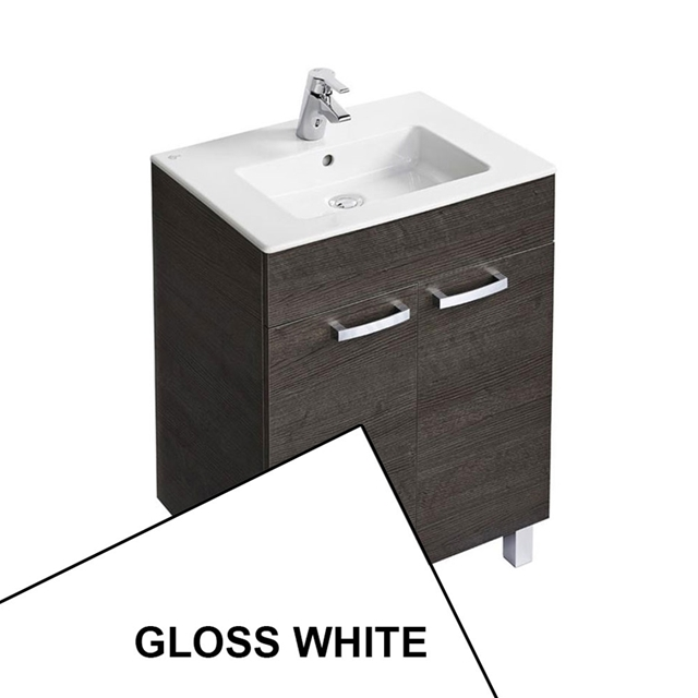 Ideal Standard TEMPO Vanity Unit; 600x440mm; 2 Door; Gloss White