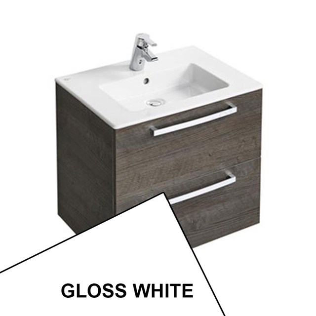 Ideal Standard TEMPO Vanity Unit; 600x440mm; 2 Drawer; Gloss White