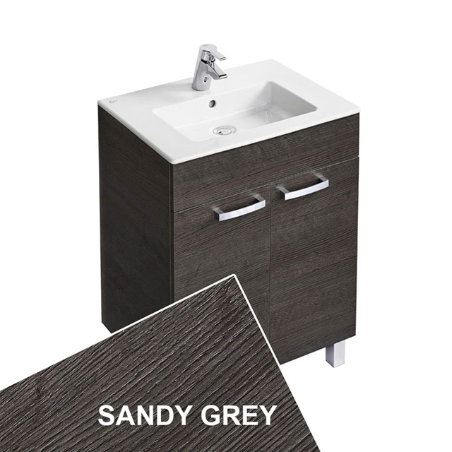 Ideal Standard TEMPO Vanity Unit; 600x440mm; 2 Door; Sandy Grey
