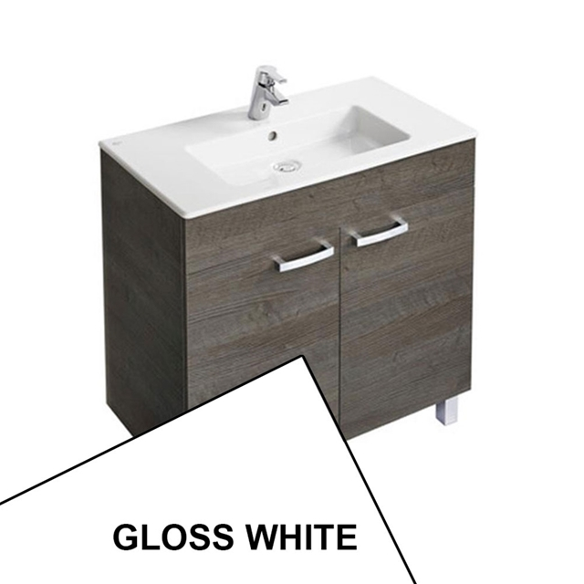 Ideal Standard TEMPO Vanity Unit; 800x440mm; 2 Door; Gloss White