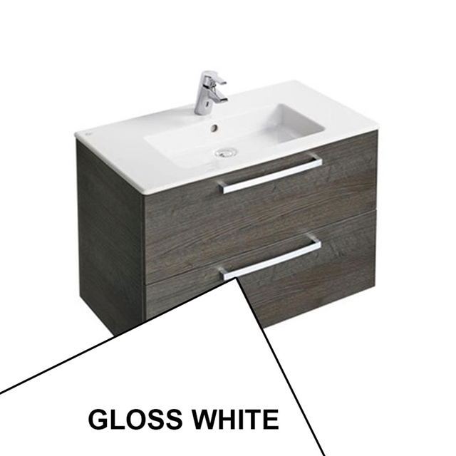 Ideal Standard TEMPO Vanity Unit; 800x440mm; 2 Drawer; Gloss White