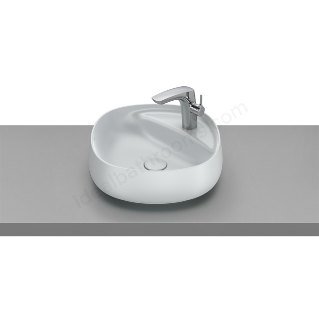 Roca Beyond On-Countertop Basin 455X455 - Pearl